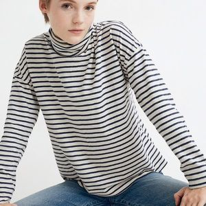 Madewell River & Thread Turtleneck Tee in Stripe
